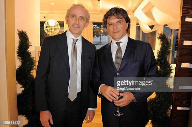 Lorenzo Marconi and Fabrizio Leoni attend Luxury Living Showroom Art Basel Miami Beach Event on December 3 2014 in Miami Florida