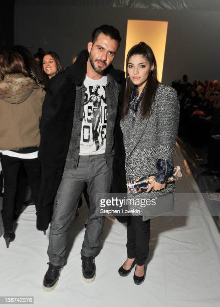 Lorenzo Martone and actress Amanda Setton attend the Ruffian Fall 2012 fashion show during MercedesBenz Fashion Week at The Studio at Lincoln Center...