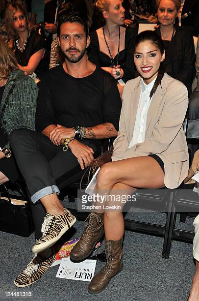 Lorenzo Martone and actress Amanda Setton attend the Ruffian Spring 2012 fashion show during MercedesBenz Fashion Week at The Studio at Lincoln...