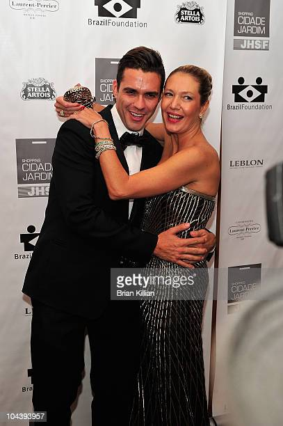 Lorenzo Martone and Donata Meirelles attend the 8th annual Brazil Foundation Gala after party at the Boom Boom Room on September 23 2010 in New York...