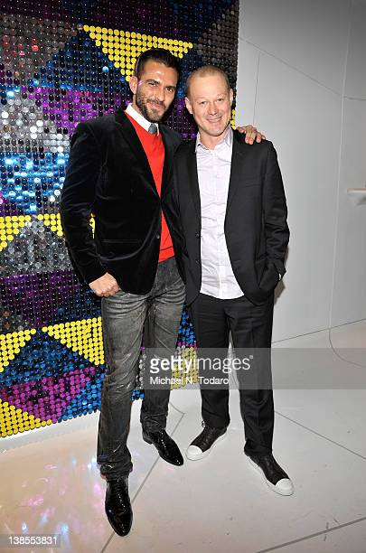Lorenzo Martone and Paulo Pedo attend the grand opening of the Galeria Melissa Flagship Store on February 8 2012 in New York City