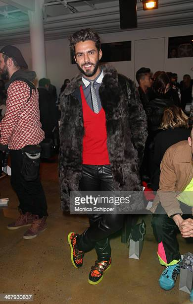 Lorenzo Martone attends Alexandre Herchcovitch fashion show during MADE Fashion Week Fall 2014 at Milk Studios on February 8 2014 in New York City