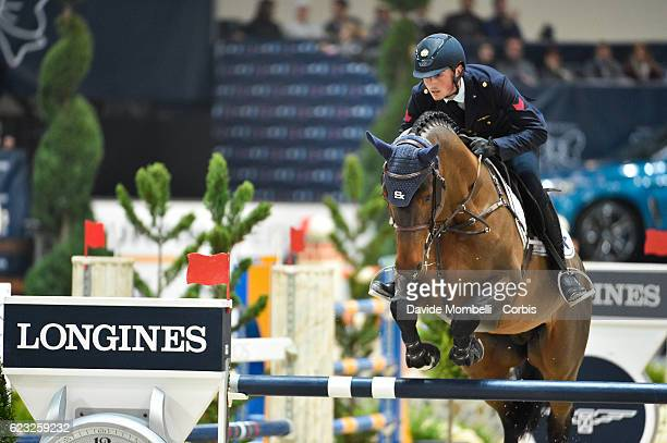 Lorenzo of Italy rides Armitages Boy during the FEI Longines CSI5* World Cup Small Tour By BMW Jumping Verona 2016 on November 10 2016 in Verona Italy