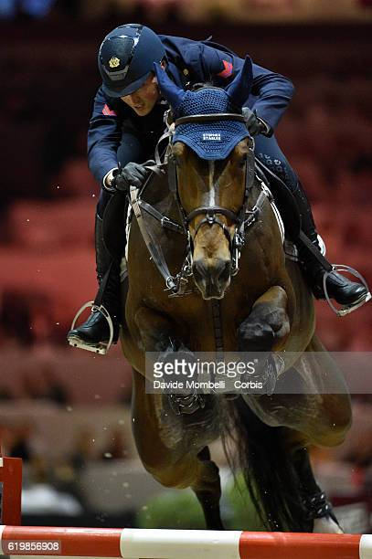 Lorenzo of Italy rides Ensor de Litrange Lxii during the Grand Prix Longines FEI World Cup by GL Events at in the EQUITA Lyon France Photo by Davide...