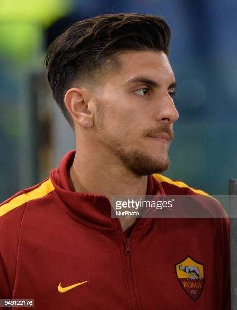 Lorenzo Pellegrini during the Italian Serie A football match between AS Roma and AC Genoa at the Olympic Stadium in Rome on april 18 2018