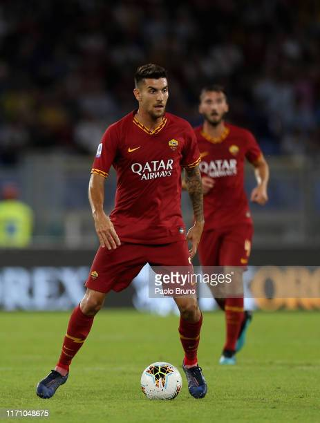 Lorenzo Pellegrini of AS Roma in action during the Serie A match between AS Roma and Atalanta BC at Stadio Olimpico on September 25, 2019 in Rome,...