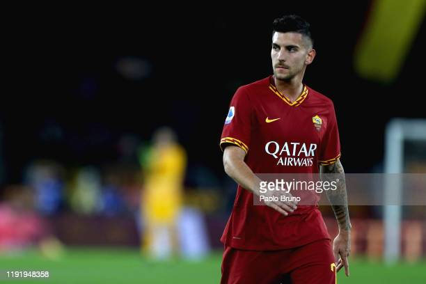 Lorenzo Pellegrini of AS Roma looks on during the Serie A match between AS Roma and Torino FC at Stadio Olimpico on January 5 2020 in Rome Italy