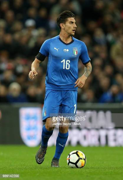 Lorenzo Pellegrini of Italy during the International Friendly match between England and Italy at Wembley Stadium on March 27 2018 in London England