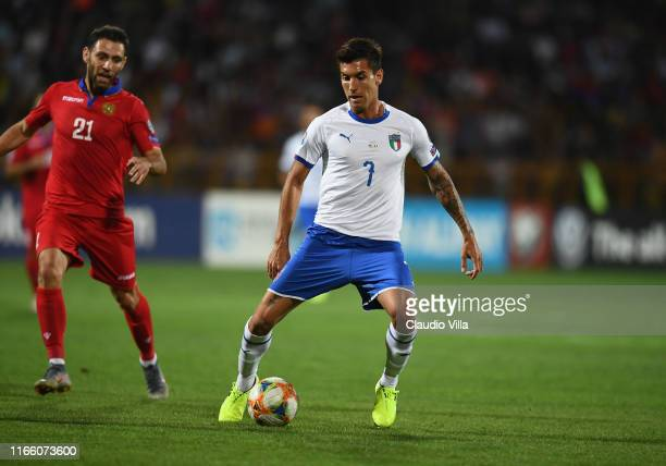 Lorenzo Pellegrini of Italy in action during the UEFA Euro 2020 qualifier between Armenia and Italy at Republican Stadium after Vazgen Sargsyan on...