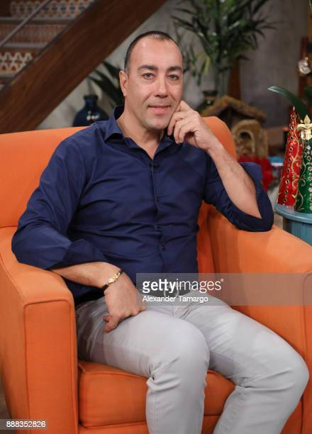 Lorenzo Quinn is seen on the set of 'Despierta America' at Univision Studios on December 8 2017 in Miami Florida
