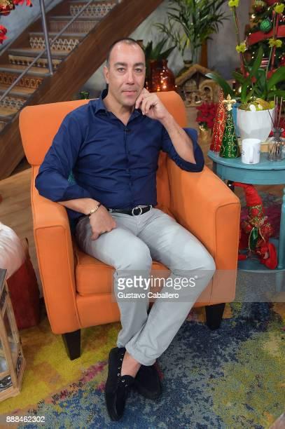Lorenzo Quinn is seen on the set of 'Despierta America' at Univision Studios at Univision Studios on December 8 2017 in Miami Florida