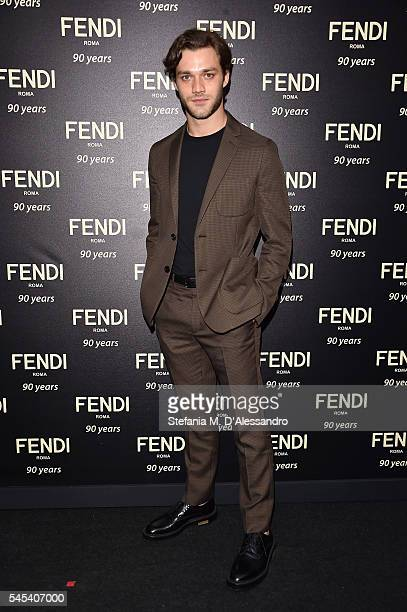Lorenzo Richelmy attends the Fendi Roma 90 Years Anniversary Welcome Cocktail at Palazzo Carpegna on July 7 2016 in Rome Italy