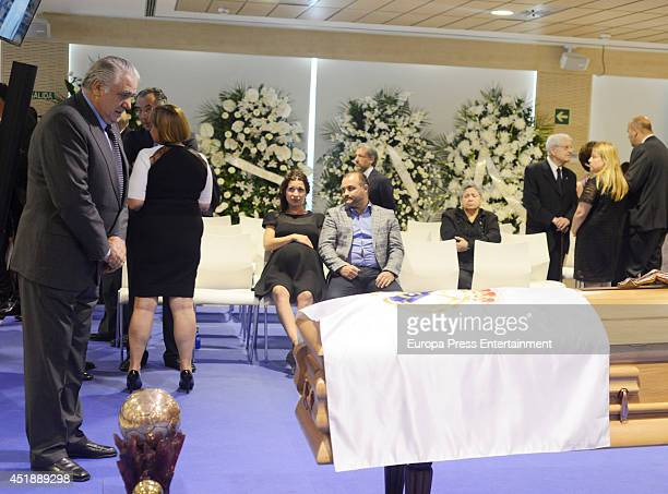 Lorenzo Sanz attends the funeral chapel for Real Madrid legend and honorary president Alfredo Di Stefano who died at 88 years old at Estadio Santiago...