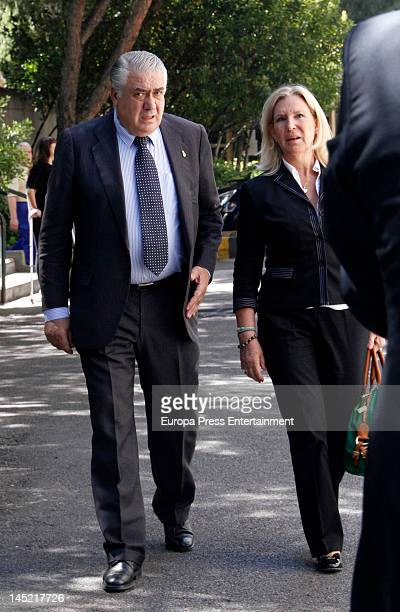 Lorenzo Sanz attends the funeral of president of Real Madrid Florentino Perez's wife Pitina Sandoval at La Almudena crematorium on May 23 2012 in...