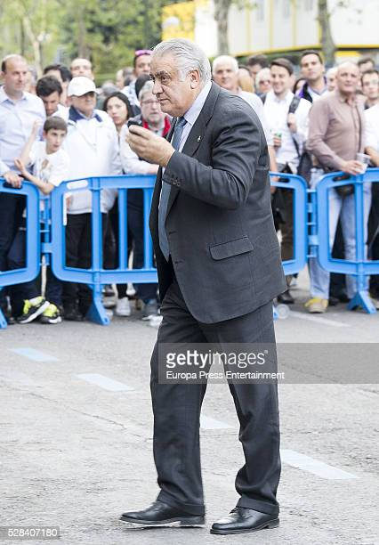 Lorenzo Sanz attends the UEFA Champions League semifinal secondleg football match between Real Madrid and Manchester Cityon May 04 2016 in Madrid