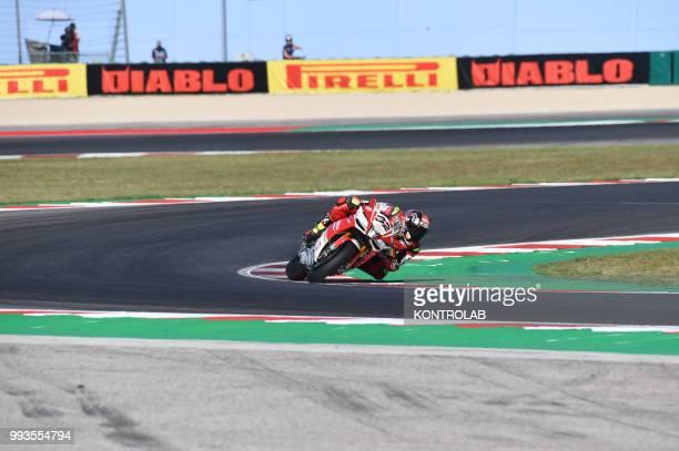Lorenzo Savadori ITA Aprilia RSV4 RF during qualifying of WSBK Riviera di Rimini Round