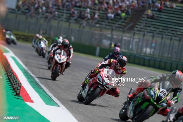 32 Lorenzo Savadori ITA Aprilia RSV4 RF Milwaukee Aprilia during the Motul FIM Superbike Championship Italian Round race 2 during the World...