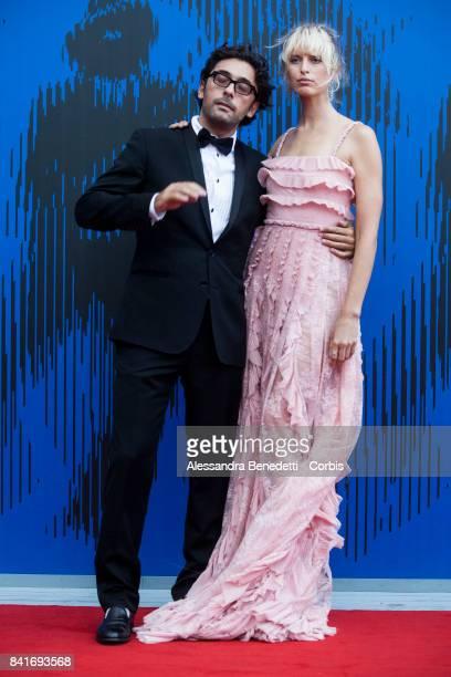 Lorenzo Serafini and Karolina Kurkova attends the The Franca Sozzani Award during the 74th Venice Film Festival at Sala Giardino on September 1 2017...