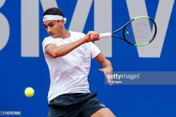 Lorenzo Sonego of Italy controls the ball during the BMW Open by FWU at MTTC IPHITOS on April 29 2019 in Munich Germany