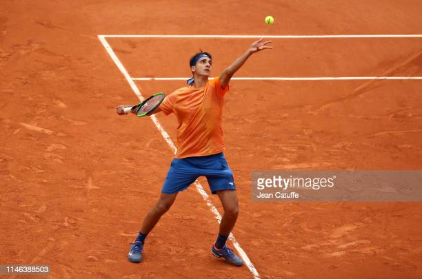 Lorenzo Sonego of Italy during day 1 of the 2019 French Open at Roland Garros stadium on May 26 2019 in Paris France