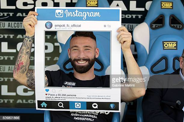 Lorenzo Tonelli of Empoli Fc attend the Serie A match between Empoli FC and Bologna FC at Stadio Carlo Castellani on May 1 2016 in Empoli Italy