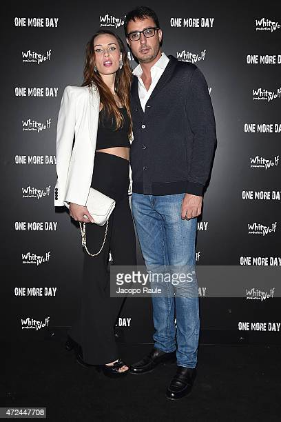 Lorenzo Tonetti and Laura Calvo attend the 'One More Day' premiere on May 7 2015 in Milan Italy