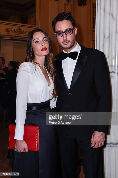 Lorenzo Tonetti and Laura Calvo attend the Teatro Alla Scala 2015/16 Season Opening on on December 7 2015 in Milan Italy