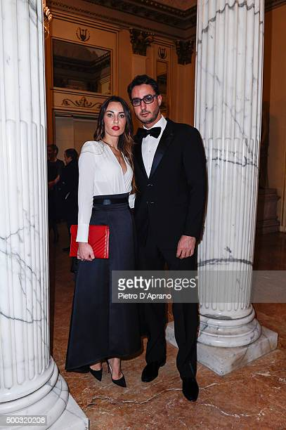 Lorenzo Tonetti and Laura Calvo attends attend the Teatro Alla Scala 2015/16 Season Opening on on December 7 2015 in Milan Italy