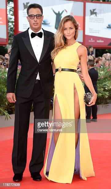 Lorenzo Tonetti and Natalia Borges attend 'Gravity' premiere and Opening Ceremony during The 70th Venice International Film Festival at Sala Grande...