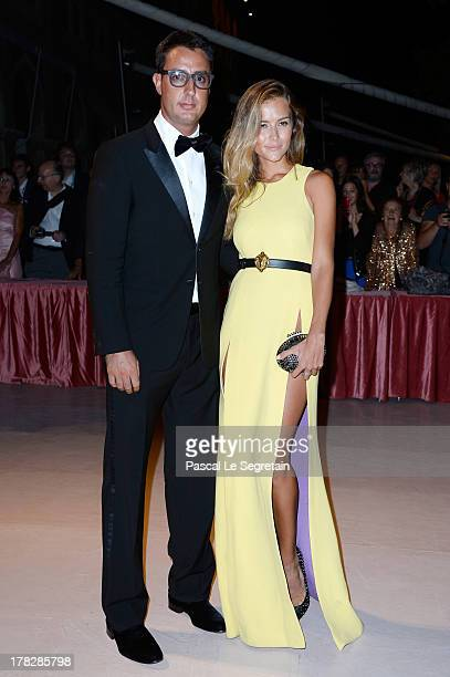 Lorenzo Tonetti and Natalia Borges attend the Opening Dinner Arrivals during the 70th Venice International Film Festival at the Hotel Excelsior on...