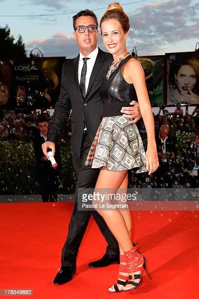 Lorenzo Tonetti and Natalia Borges attend the 'Tracks' premiere during the 70th Venice International Film Festival at the Palazzo del Cinema on...