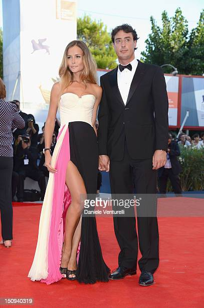 Lorenzo Tonetti and Natalia Borges attends The Reluctant Fundamentalist premiere and opening ceremony during the 69th Venice Film Festival at the...