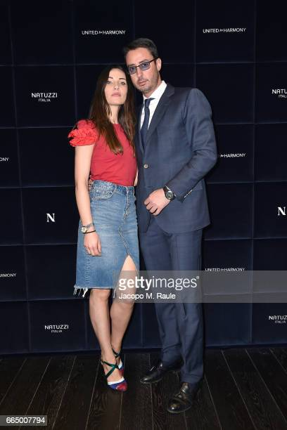 Lorenzo Tonetti attends Natuzzi 'United For Armony' cocktail party during Milan Design Week on April 5 2017 in Milan Italy