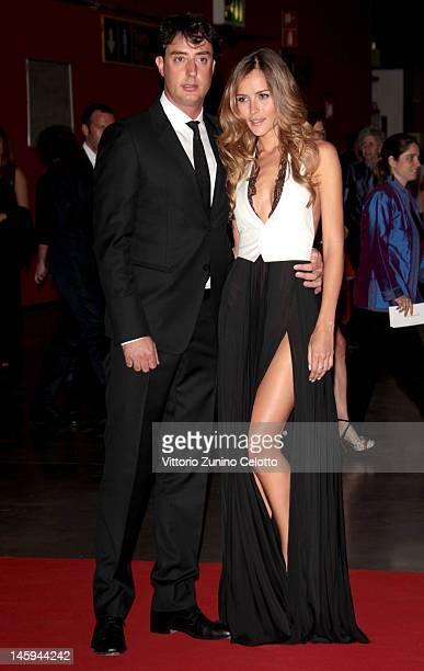 Lorenzo Tonetti e Natalia Borges attend the 2012 Convivio charity gala event on June 7 2012 in Milan Italy