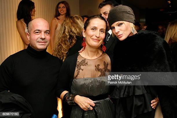Lorenzo Uras Beatrice Ferretti and Kate Nauta attend LA PERLA Celebrating The Legacy at La Perla on Madison Avenue on December 13 2007 in New York...