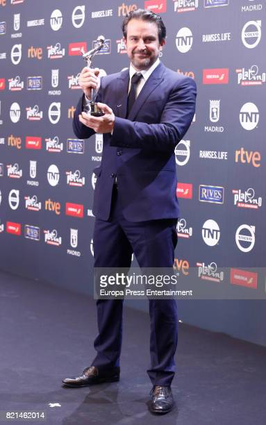 Lorenzo Vigas is seen at Platino Awards winners press room at La Caja Magica on July 22 2017 in Madrid Spain