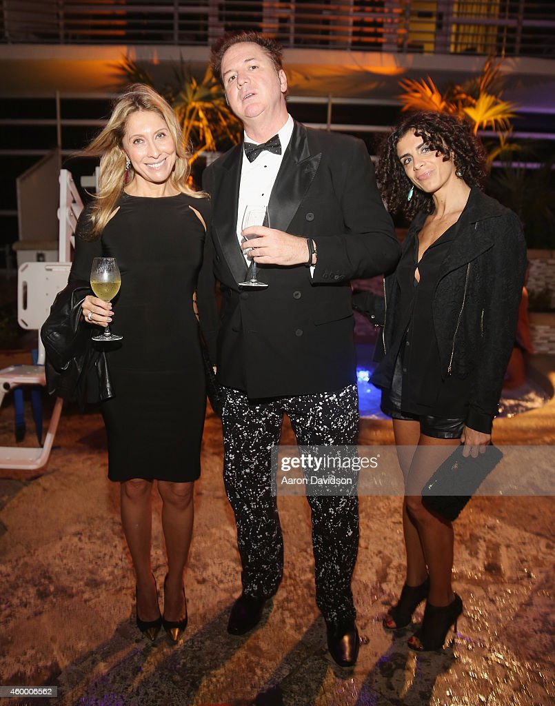 Loreta Papaleo and Clifford Wirght attend Sara Von Kienegger and Art of Elysium Host Los Angeles Gallery MAMA's Presentation Of Ryan Heffington's 'Wading Games' With Osk And Music BANKS at Ritz Carlton South Beach on December 4, 2014 in Miami Beach, Florida.