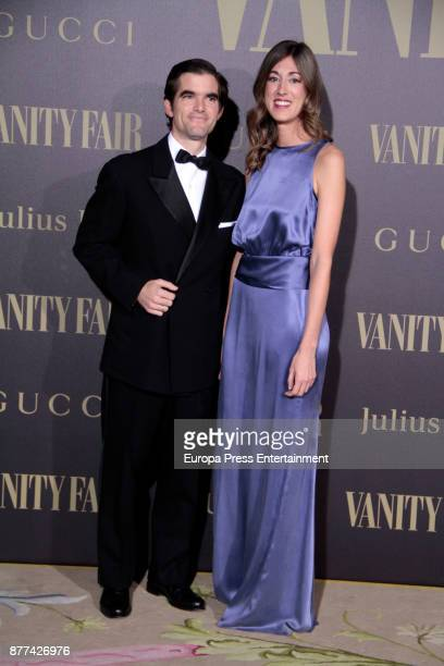 Loreto Carceles and Jaime Gonzalez attend the gala 'Vanity Fair Personality of the Year' to Garbine Muguruza at Ritz Hotel on November 21 2017 in...