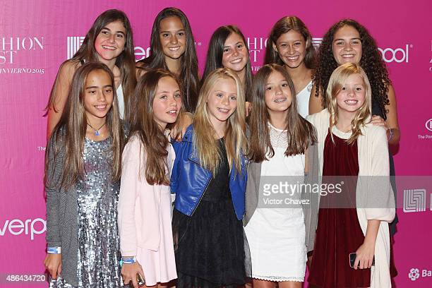 Loreto Peralta and guests attend the Liverpool Fashion Fest Autumn/Winter 2015 at Televisa San Angel on September 3 2015 in Mexico City Mexico