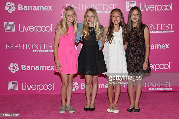 Loreto Peralta and guests attend the Liverpool Fashion Fest Spring/Summer 2016 at Televisa San Angel on March 3 2016 in Mexico City Mexico