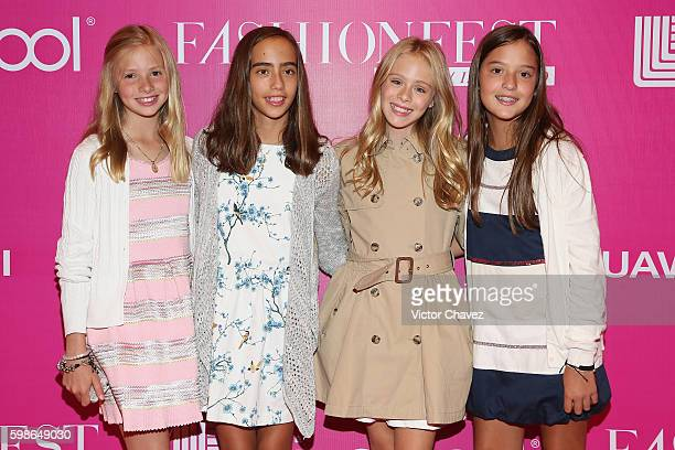 Loreto Peralta and guests attend the Liverpool Fashion Fest Autumn/Winter 2016 at Televisa San Angel on September 1 2016 in Mexico City Mexico