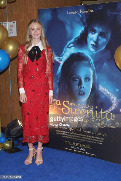 Loreto Peralta attends The Little Mermaid Mexico City premiere at Cinepolis Plaza Carso on September 5 2018 in Mexico City Mexico