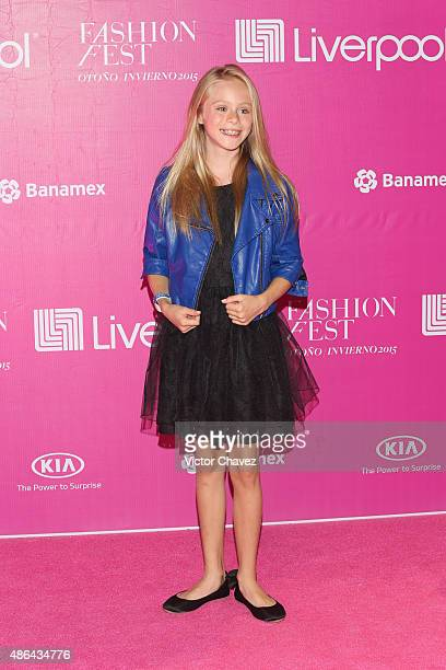 Loreto Peralta attends the Liverpool Fashion Fest Autumn/Winter 2015 at Televisa San Angel on September 3 2015 in Mexico City Mexico