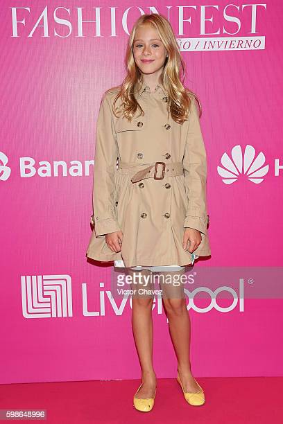 Loreto Peralta attends the Liverpool Fashion Fest Autumn/Winter 2016 at Televisa San Angel on September 1 2016 in Mexico City Mexico