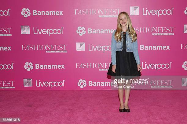 Loreto Peralta attends the Liverpool Fashion Fest Spring/Summer 2016 at Televisa San Angel on March 3 2016 in Mexico City Mexico