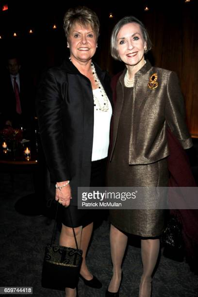 Loretta Anderson and Liz Byrne attend PARADE MAGAZINE and SI Newhouse Jr honor Walter Anderson at The 4 Seasons Grill Room on March 31 2009 in New...