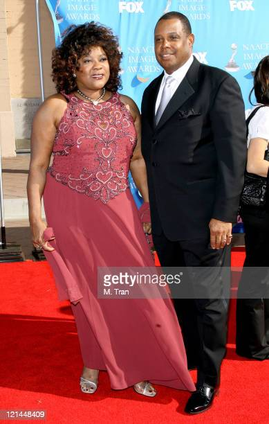 Loretta Devine and guest during 38th Annual NAACP Image Awards - Arrivals at Shrine Auditorium in Los Angeles, California, United States.