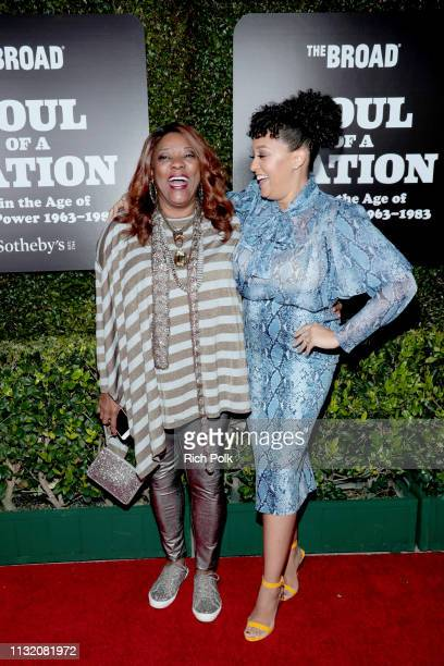 Loretta Devine and Tia MowryHardrict attend and The Broad Museum celebration for the opening of Soul Of A Nation Art in the Age of Black Power...