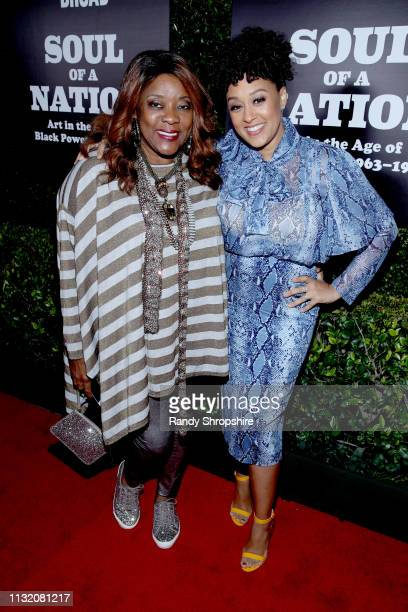 Loretta Devine and Tia Mowry-Hardrict attend The Broad Museum celebration for the opening of Soul Of A Nation: Art in the Age of Black Power...