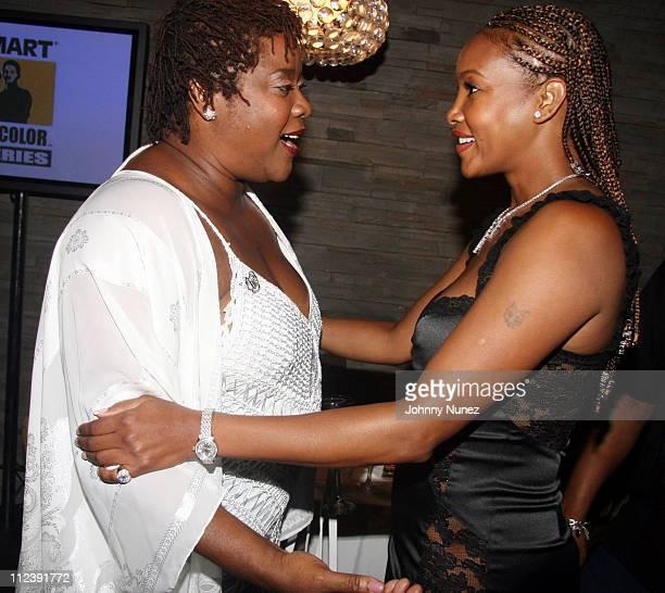 Loretta Devine and Vivica Fox during ABFF and Walmart VIP Reception - July 22, 2006 at Santo Restaurant in Miami, Florida, United States.